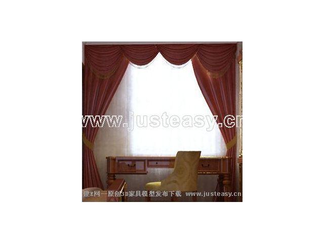 3dmax做窗帘贴图时窗幔和窗帘