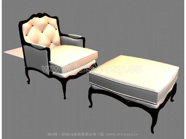 欧式躺椅3d模型下载[id:18060]