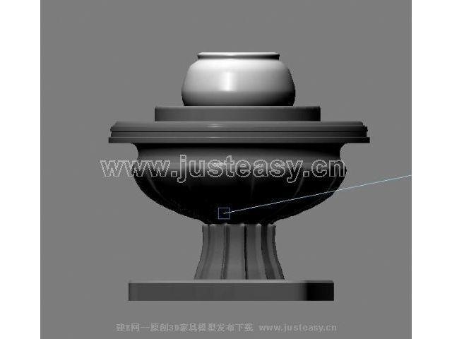 室内欧式花坛3d模型下载[id:18446]