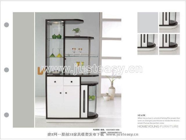 酒柜3d模型免费下载_建e模型网_建e网_室内设计装修