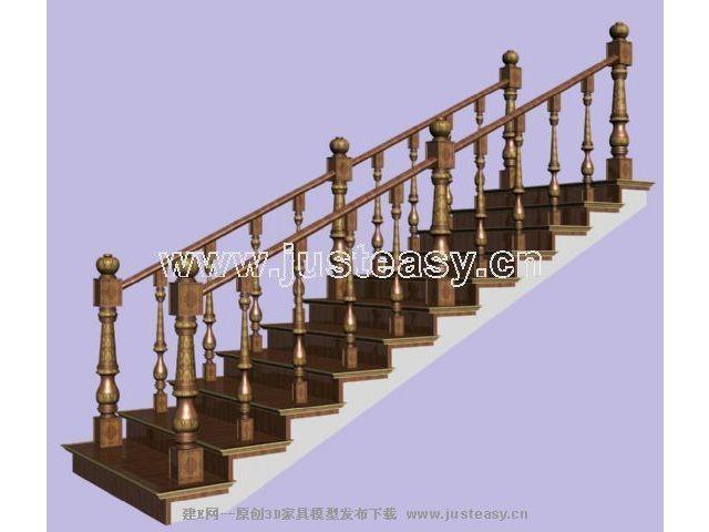 经典欧式楼梯3d模型下载[id:19311]