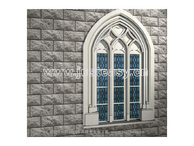 欧式门窗模型下载
