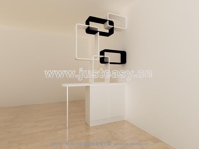 鞋柜玄关3d模型下载 高清图片