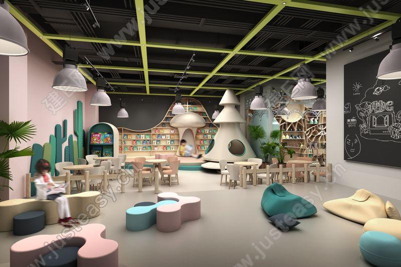 现代时尚幼儿园消费区娱乐场3d模型