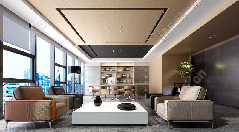 现代总经理室3d模型