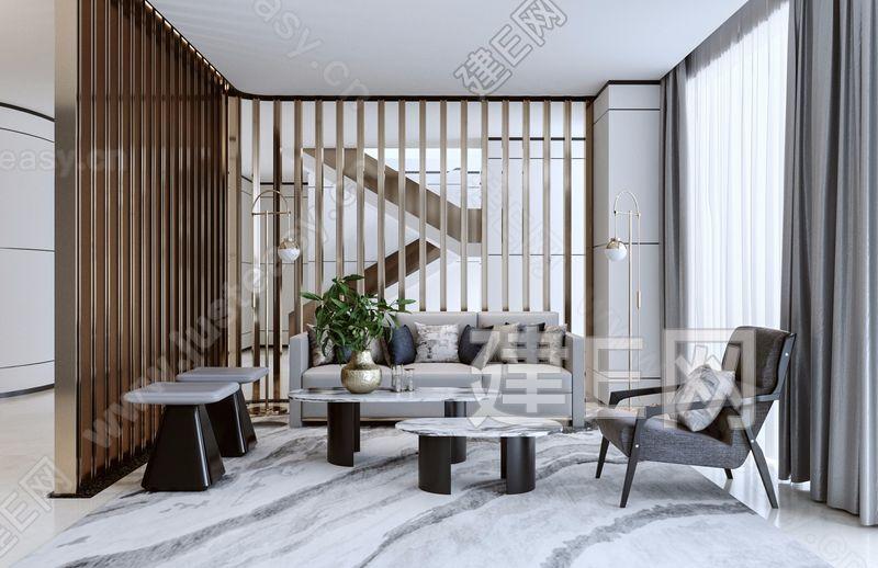 中南张家港现代售楼处休闲区3d模型
