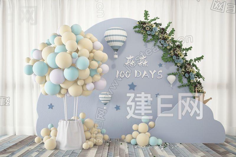 婚庆气球合影区3d模型