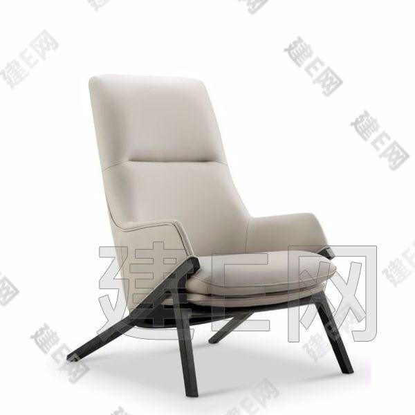 现代奢华双人床休闲椅组合3d模型