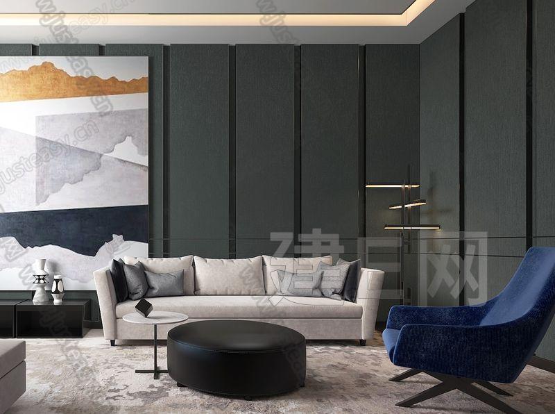 卡纳设计现代售楼处VIP室3d模型