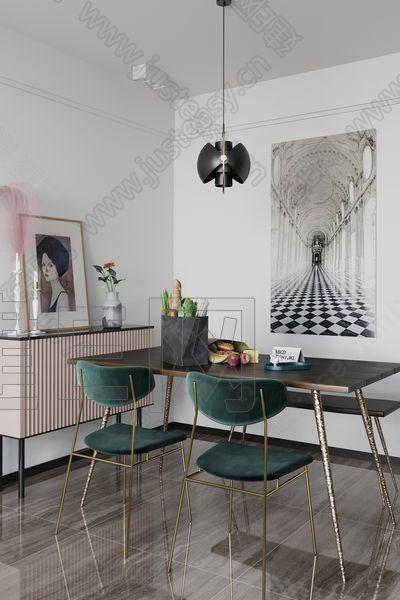 HEY空间设计现代餐厅3d模型