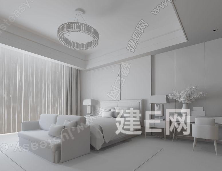 SCD香港郑树芬 现代卧室3d模型