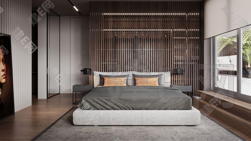 Neiman设计现代卧室3d模型