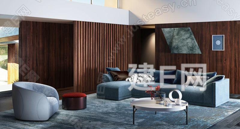 意大利Fendi现代客厅3d模型