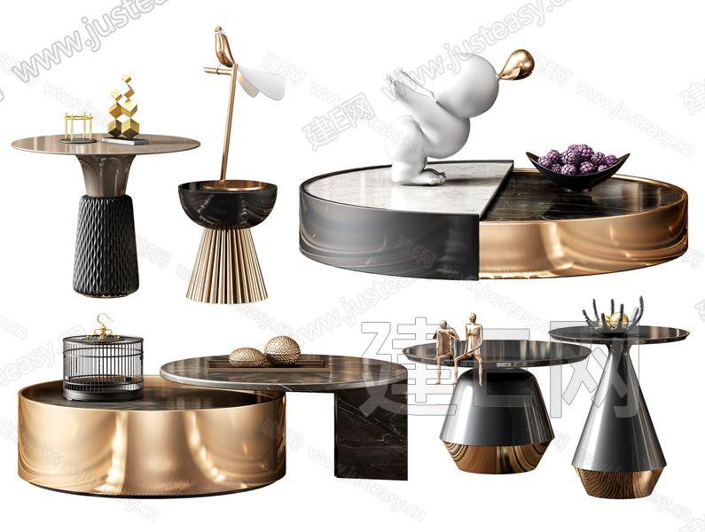 现代茶几3d模型