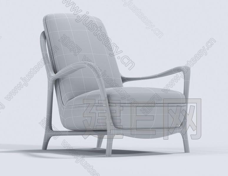 意大利 Opera 现代单椅3d模型