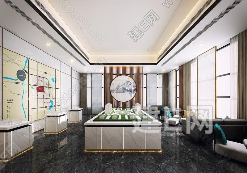 新中式售楼中心3d模型