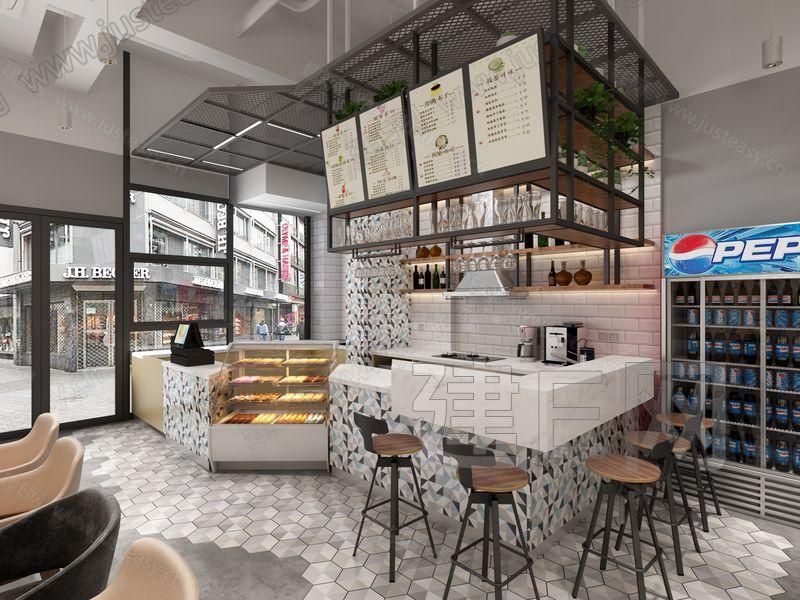现代甜品奶茶店3d模型