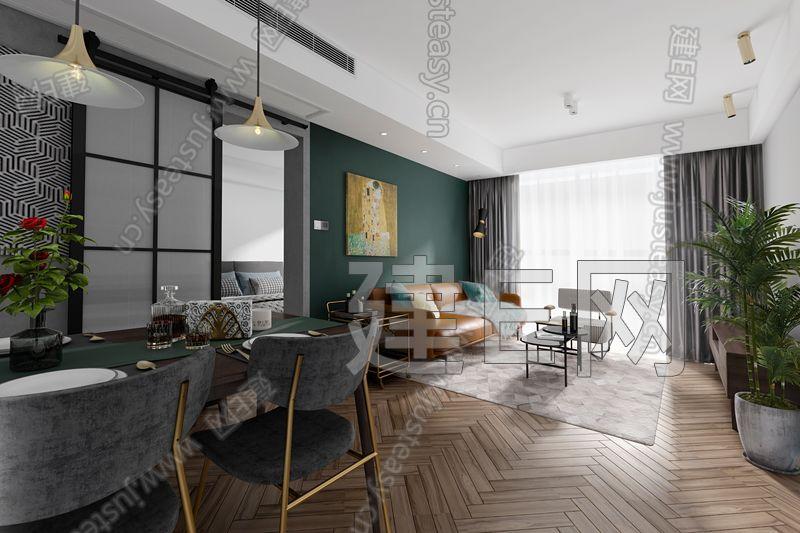 芜湖研设计 北欧客餐厅3d模型