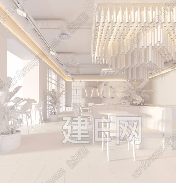 莫斯科200m²时尚咖啡厅3d模型