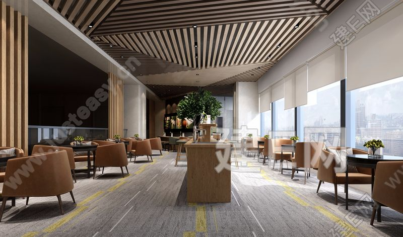 现代休闲咖啡厅3d模型