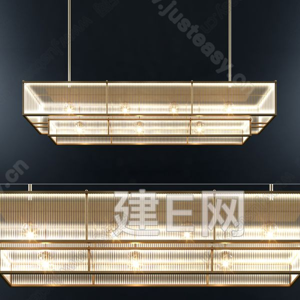 Marais 线性水晶吊灯3d模型