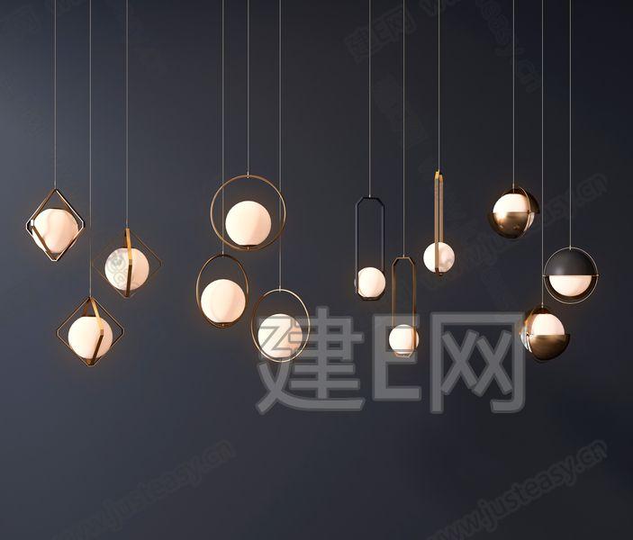 现代吊灯3d模型