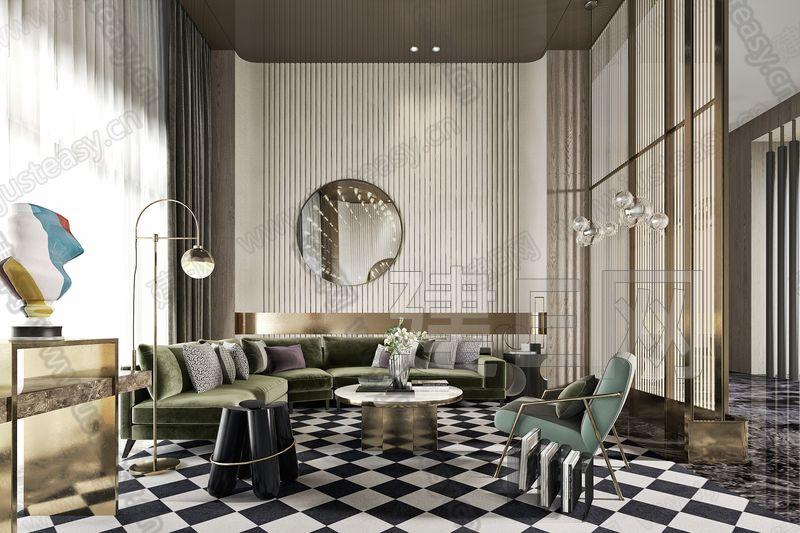 集艾设计 新中式售楼处3d模型