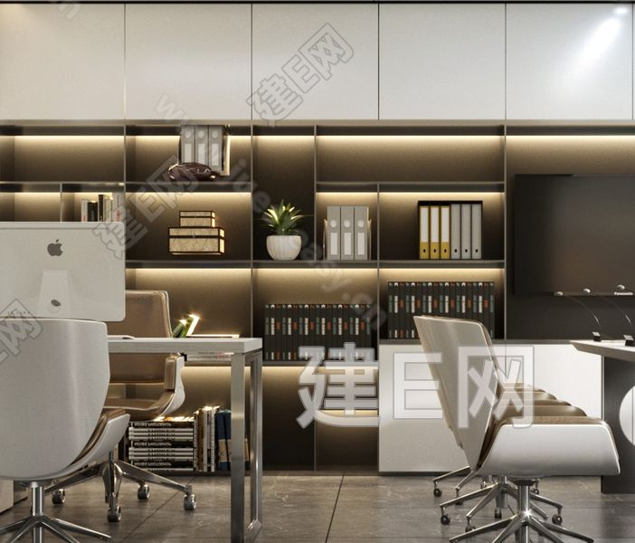 現代辦公秘書室3d模型