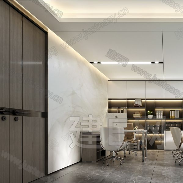 现代办公秘书室3d模型