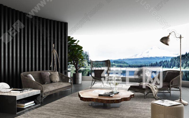 现代阳台3d模型