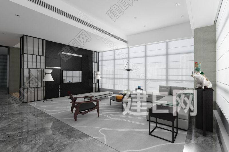 中山保利艾美酒店接待区3d模型