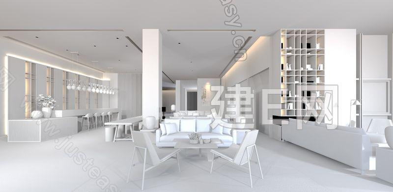 李益中 新中式售楼处3d模型