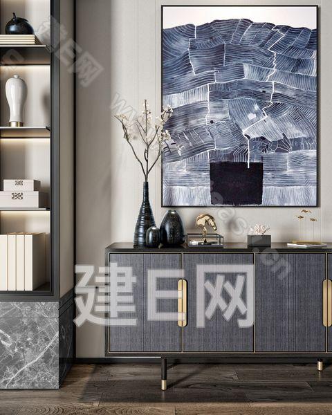 新中式玄关柜3d模型