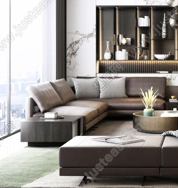 意大利 Poliform 现代客厅3d模型