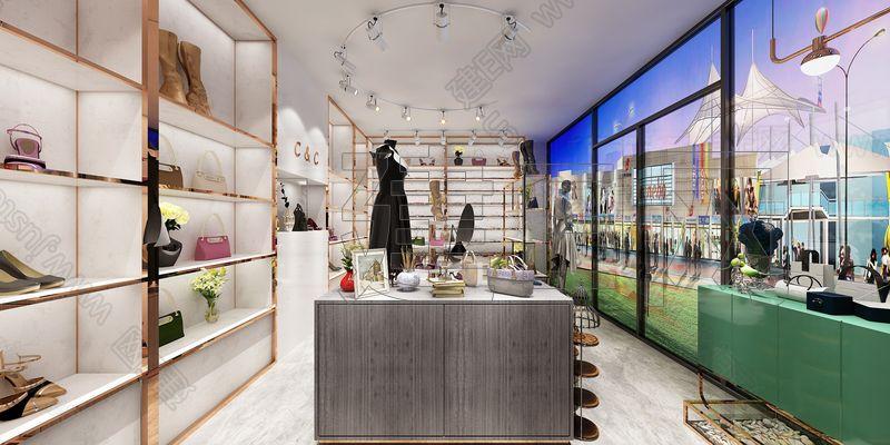 现代服装店3d模型
