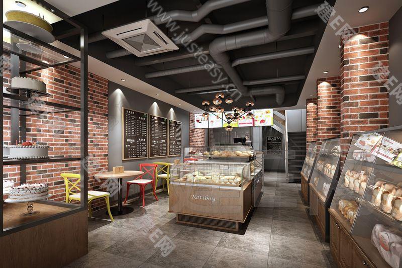 工业风蛋糕店3d模型