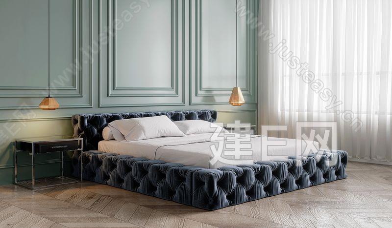 意大利 RH 现代双人床3d模型