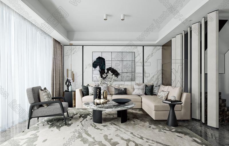 LSD葛亚曦设计 新中式客厅3d模型