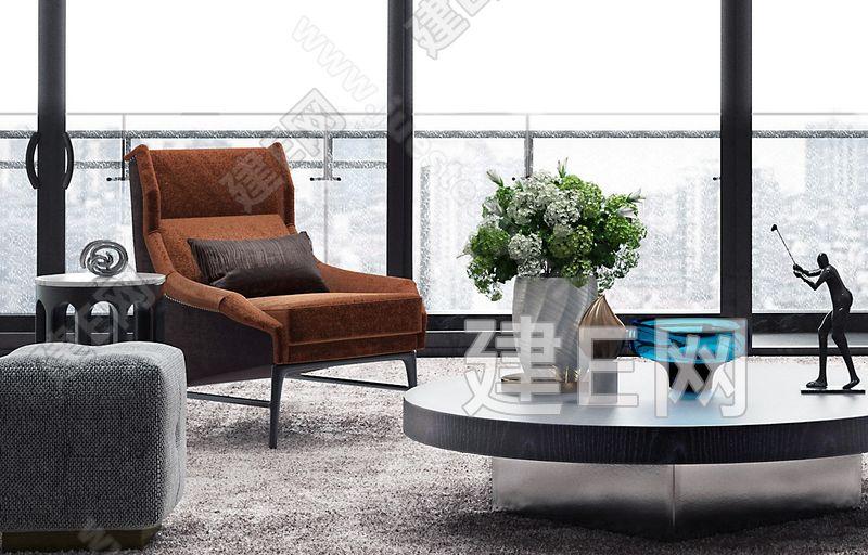 YORO御融设计 现代客厅3d模型