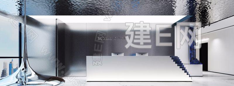 广州激塔室内设计 广东环球经纬律师事务所 接待台3d模型