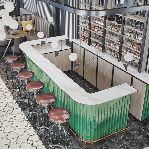 美式酒吧3d模型
