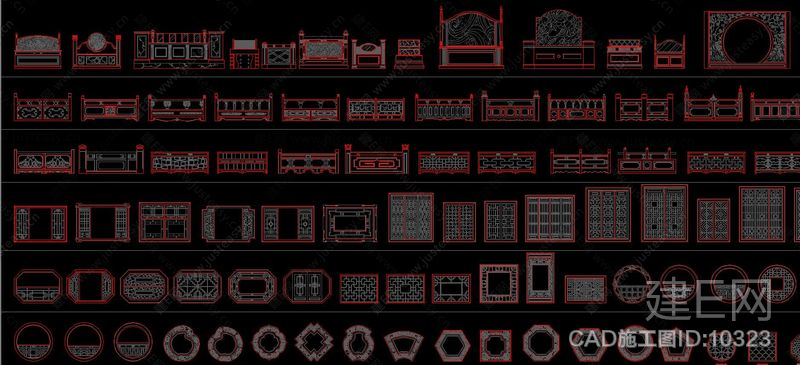 中式家装CAD图库