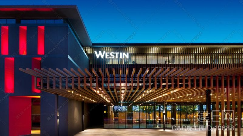 【如恩设计】西安威斯汀博物馆酒店|CAD施工图+实景图+