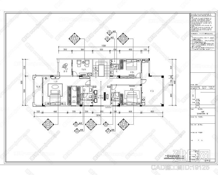 新中式别墅|CAD施工图+效果图
