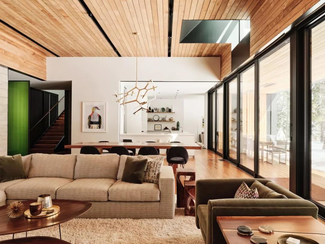 418㎡ 乡间别墅,内外连续的简约设计丨Faulkner Architects