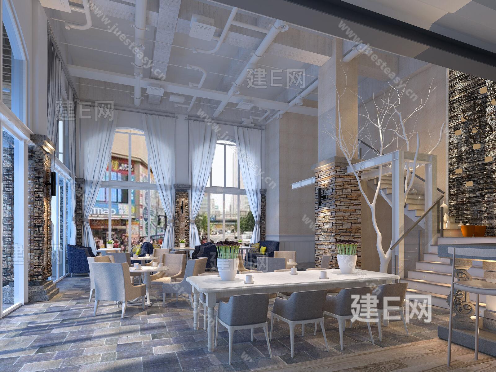 咖啡店3d模型