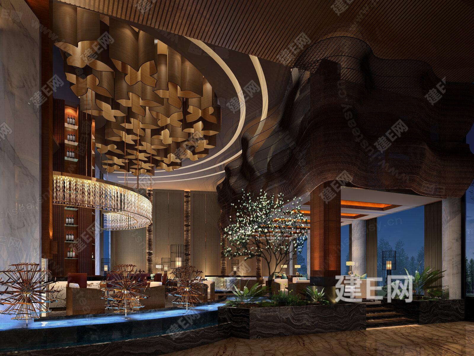 酒店大堂3d模型