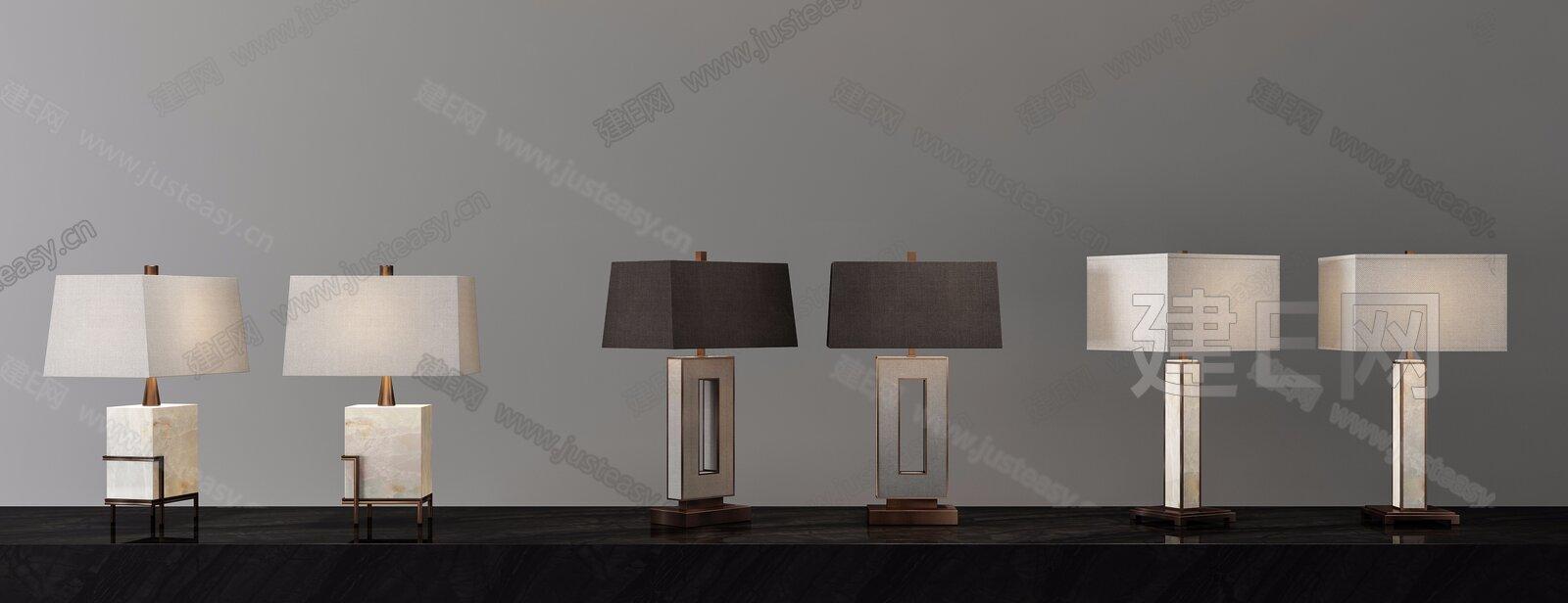 现代台灯3d模型