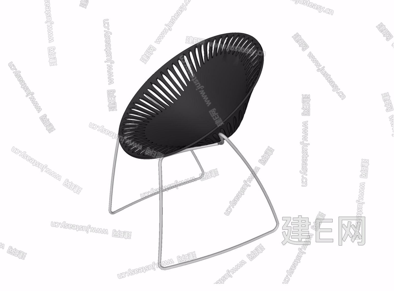 现代休闲椅sketchup模型