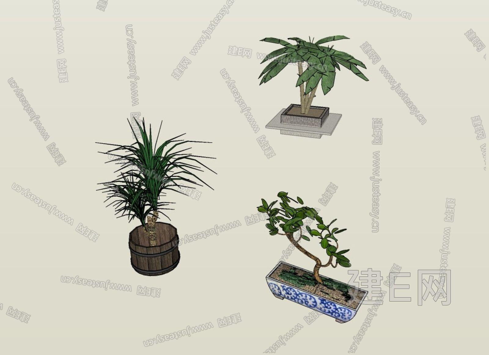 盆栽sketchup模型